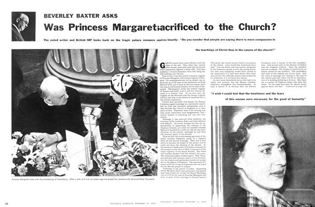 Article Preview: Was Princess Margaret saccrificed to the Church?, December 1955 | Maclean's