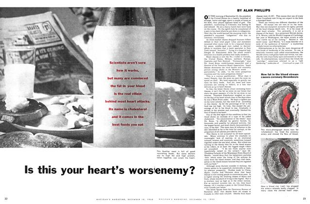 Article Preview: Is this your heart's worst enemy?, December 1955 | Maclean's