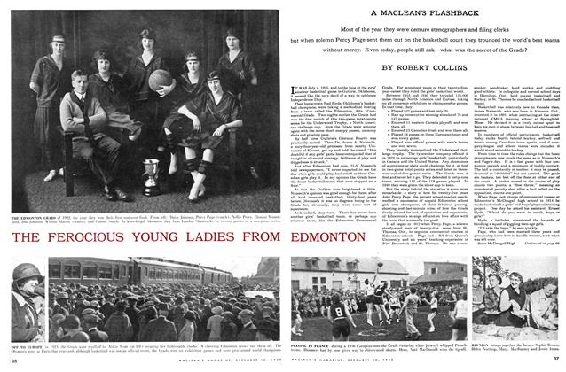 Article Preview: THE FEROCIOUS YOUNG LADIES FROM EDMONTON, December 1955 | Maclean's