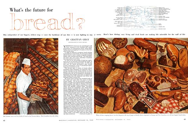 Article Preview: What's the future for bread?, December 1955 | Maclean's