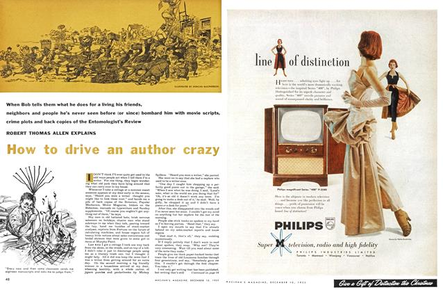 Article Preview: How to drive an author crazy, December 1955 | Maclean's