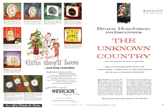 Article Preview: THE UNKNOWN COUNTRY, December 1955   Maclean's