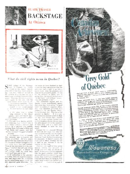 Issue: - January 1956   Maclean's