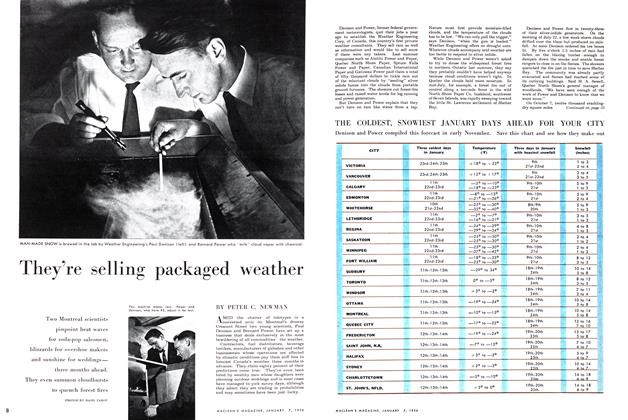 Article Preview: They're selling packaged weather, January 1956 | Maclean's