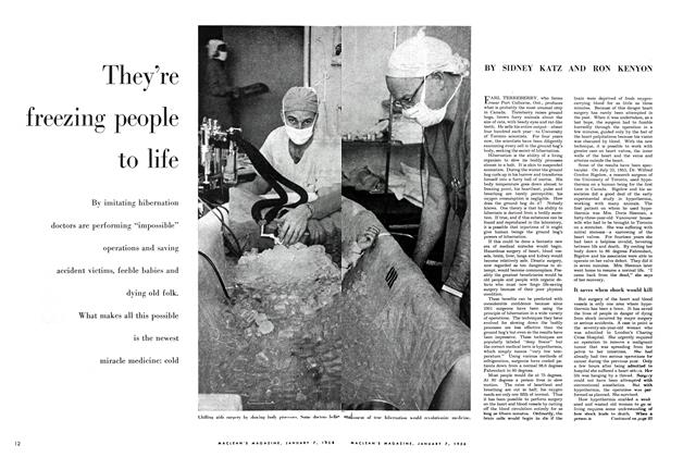 Article Preview: They're freezing people to life, January 1956 | Maclean's