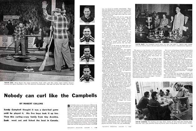 Article Preview: Nobody can curl like the Campbells, January 1956 | Maclean's