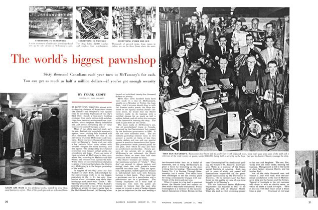 Article Preview: The world's biggest pawnshop, January 1956 | Maclean's