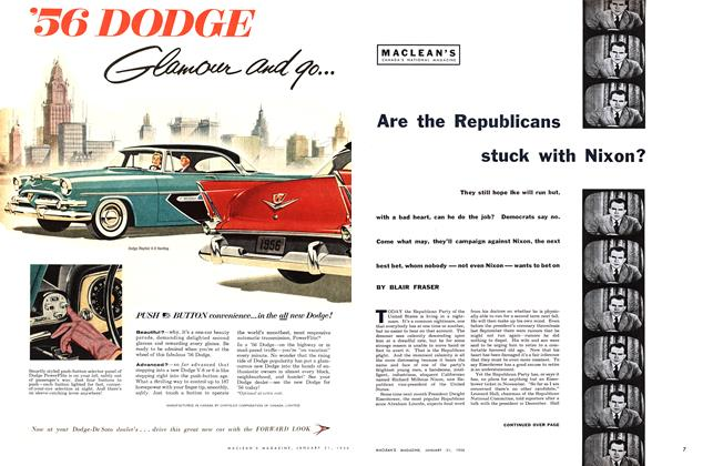 Article Preview: Are the Republicans stuck with Nixon?, January 1956 | Maclean's