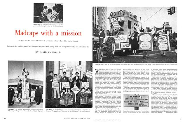 Article Preview: Madcaps with a mission, January 1956 | Maclean's