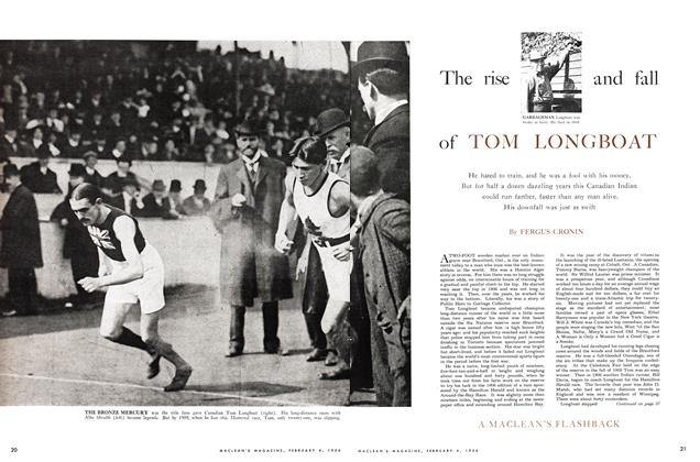 Article Preview: The rise and fall of TOM LONGBOAT, February 1956 | Maclean's