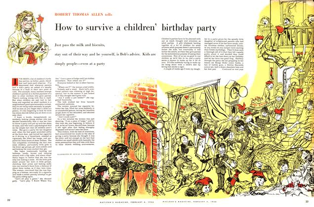 Article Preview: How to survive a children' birthday party, February 1956 | Maclean's