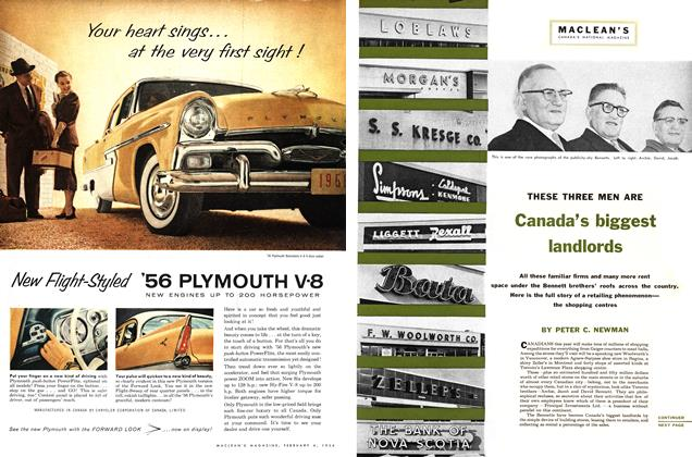 Article Preview: THESE THREE MEN ARE Canada's biggest landlords, February 1956 | Maclean's