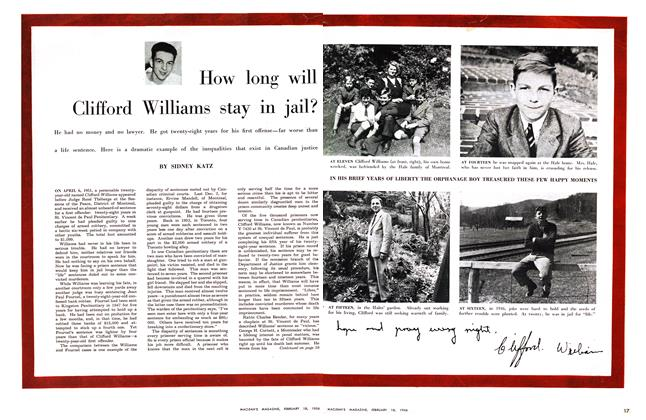 Article Preview: How long will Clifford Williams stay in jail?, February 1956 | Maclean's