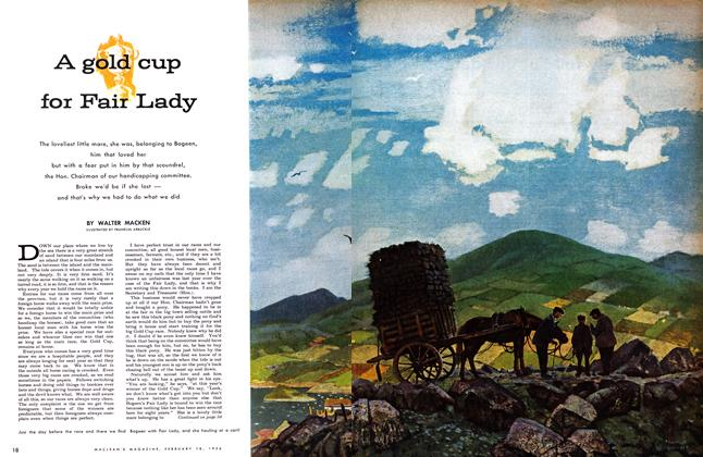 Article Preview: A gold cup for Fair Lady, February 1956 | Maclean's