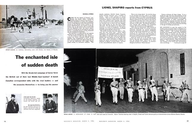 Article Preview: The enchanted isle of sudden death, March 1956 | Maclean's