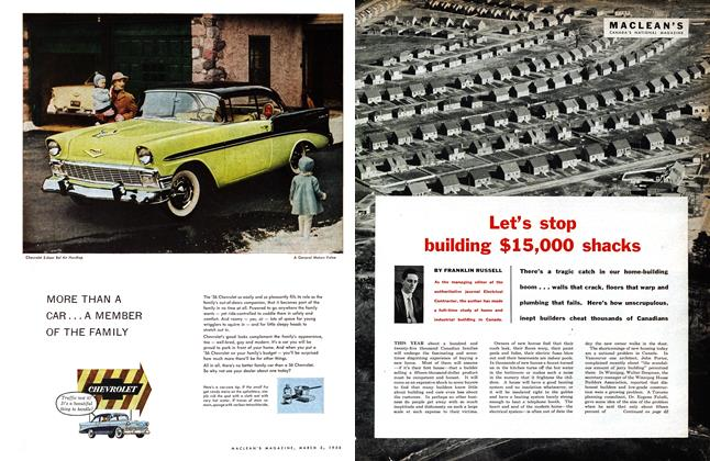 Article Preview: Let's stop building $15,000 shacks, March 1956 | Maclean's