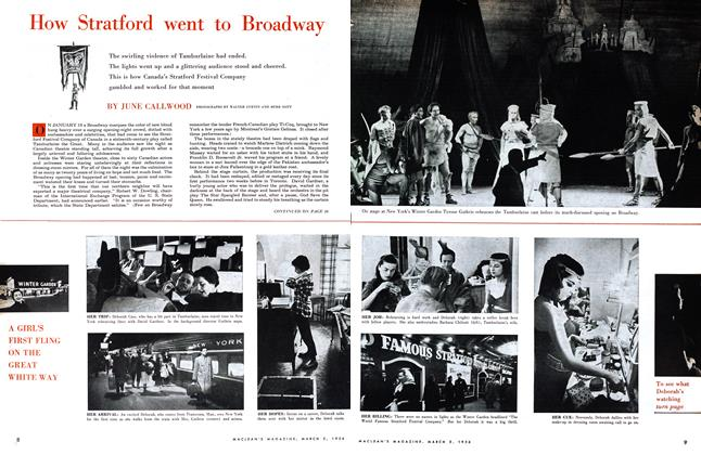 Article Preview: How Stratford went to Broadway, March 1956 | Maclean's