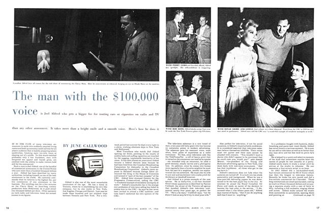 Article Preview: The man with the $100,000 voice, March 1956 | Maclean's