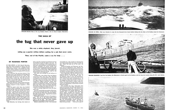 Article Preview: THE SAGA OF the tug that never gave up, March 1956 | Maclean's