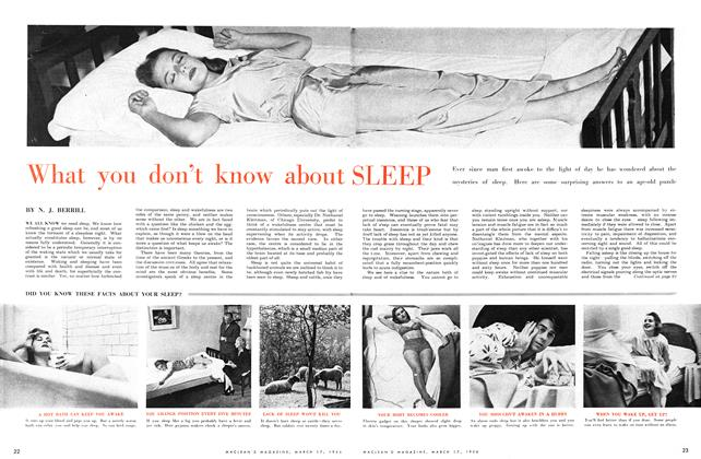 Article Preview: What you don't know about SLEEP, March 1956 | Maclean's