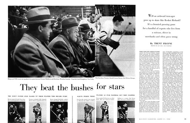 Article Preview: They beat the bushes for stars, March 1956 | Maclean's