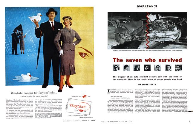 Article Preview: The seven who survived, March 1956 | Maclean's