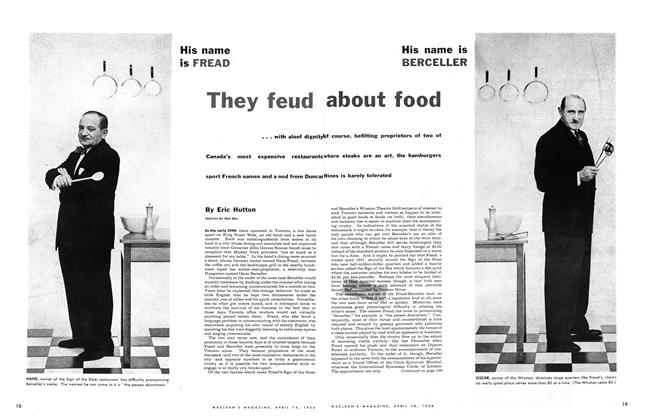 Article Preview: They feud about food, April 1956 | Maclean's