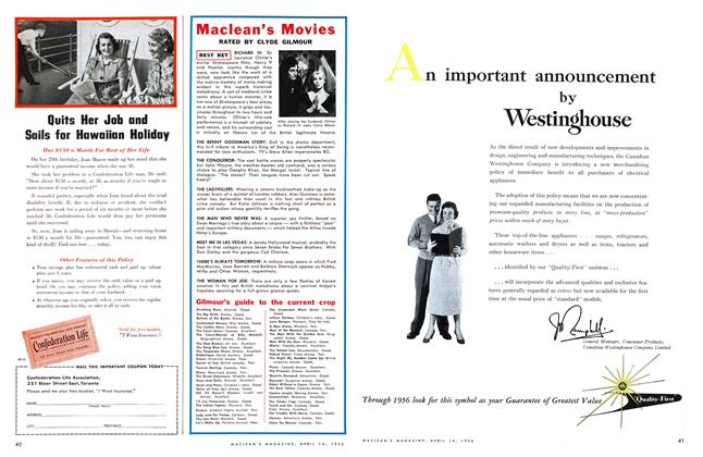 Article Preview: Maclean's Movies, April 1956 | Maclean's