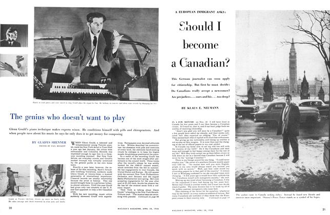 Article Preview: The genius who doesn't want to play, April 1956 | Maclean's