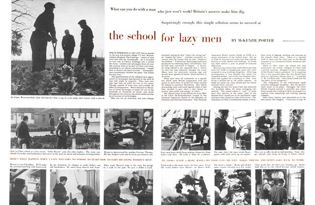 Article Preview: the school for lazy men, April 1956 | Maclean's