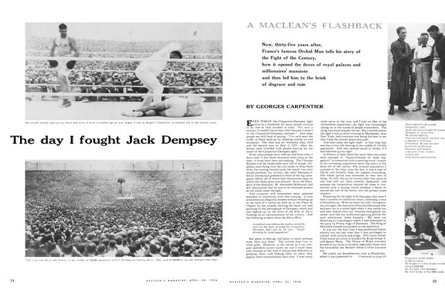 Article Preview: The day I fought Jack Dempsey, April 1956 | Maclean's