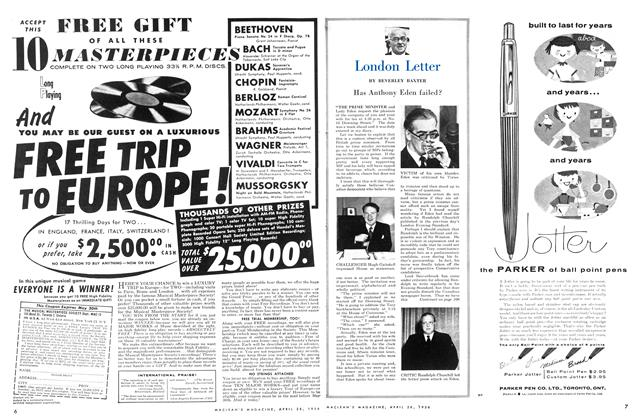 Article Preview: London Letter, April 1956 | Maclean's