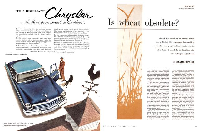 Article Preview: Is wheat obsolete?, April 1956 | Maclean's