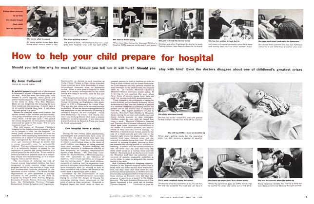 Article Preview: How to help your child prepare for hospital, April 1956 | Maclean's