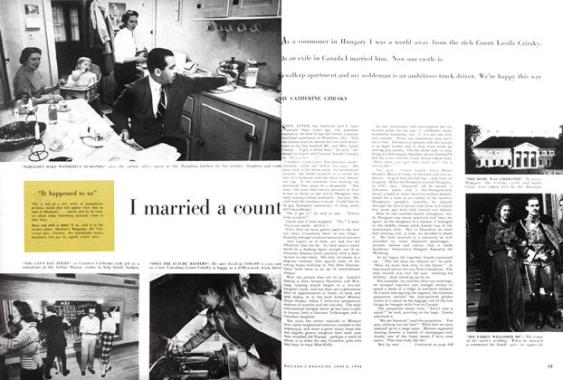 Article Preview: I married a count, June 1956 | Maclean's