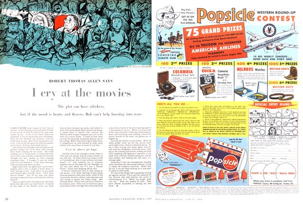 Article Preview: I cry at the movies, June 1956 | Maclean's