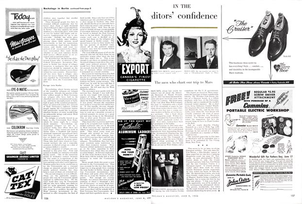 Article Preview: IN THE editors' confidence, June 1956 | Maclean's