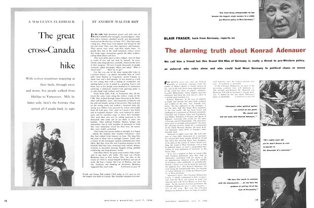 Article Preview: The great cross-Canada hike, July 1956 | Maclean's