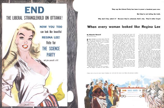 Article Preview: When every woman looked like Regina Lee, July 1956 | Maclean's