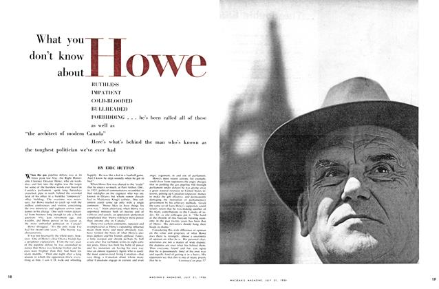Article Preview: What you don't know about Howe, July 1956 | Maclean's