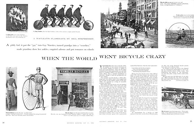 Article Preview: WHEN THE WORLD WENT BICYCLE CRAZY, July 1956 | Maclean's