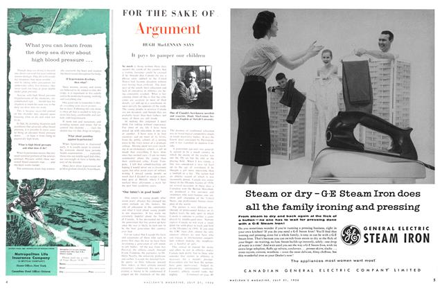 Article Preview: It pays to pamper our children, July 1956 | Maclean's