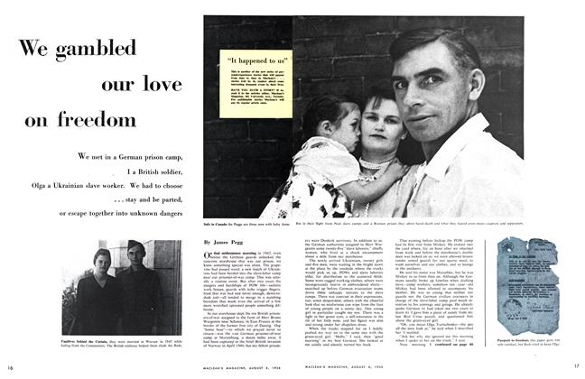 Article Preview: We gambled our love on freedom, August 1956 | Maclean's