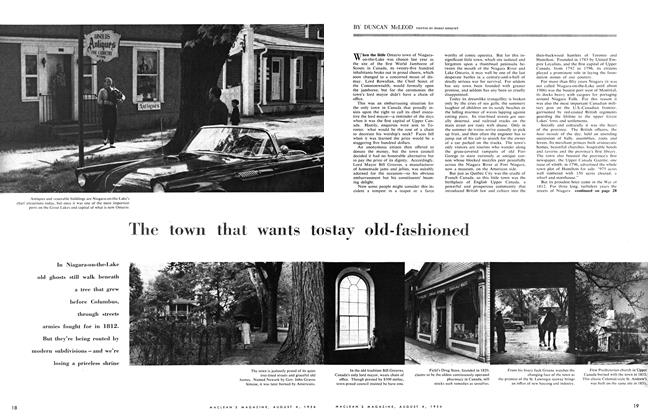 Article Preview: The town that wants to stay old-fashioned, August 1956 | Maclean's