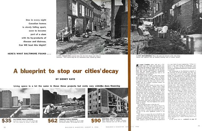 Article Preview: A blueprint to stop our cities' decay, August 1956 | Maclean's