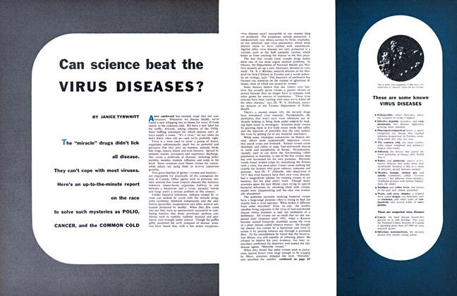 Article Preview: Can science beat the VIRUS DISEASES?, August 1956 | Maclean's