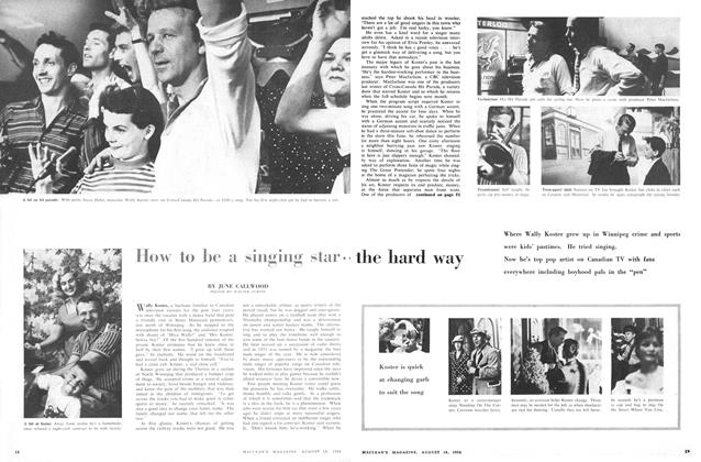 Article Preview: How to be a singing star the hard way, August 1956 | Maclean's