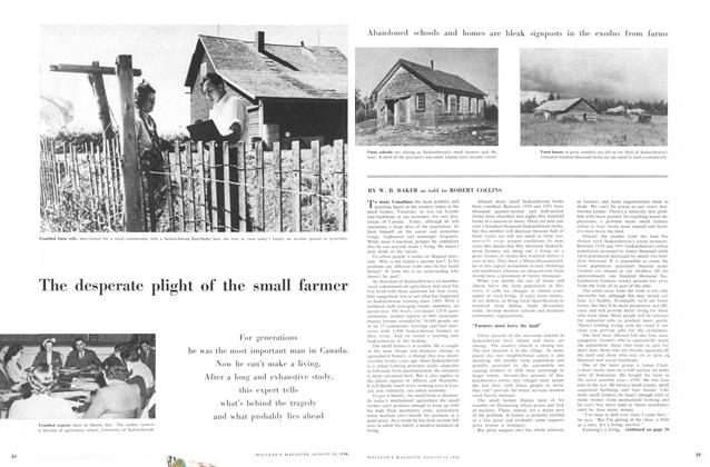Article Preview: The desperate plight of the small farmer, August 1956 | Maclean's