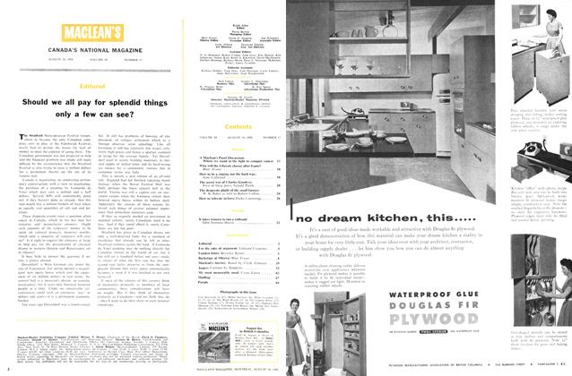 Article Preview: Editorial, August 1956 | Maclean's