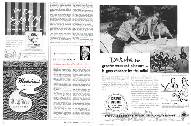 Article Preview: My most memorable meal: No. 2, August 1956 | Maclean's